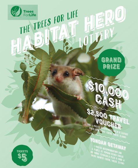 Trees for Life Habitat Hero Lottery - Grand Prize $10,000