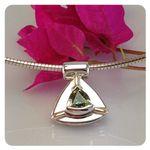 9ct White Gold Sapphire Pendant