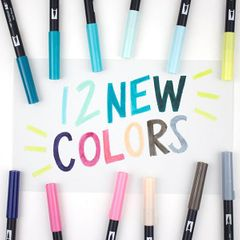 12 EXCITING NEW COLOURS - TOMBOW ABT DUAL BRUSH PENS