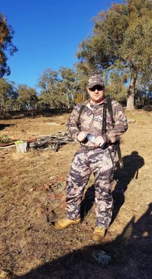 One of our staff members Andrew kitted out in his Hunters Element gear!