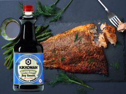 Kikkoman's Chilli, Lime, Soy Sauce & Herb Baked Salmon
